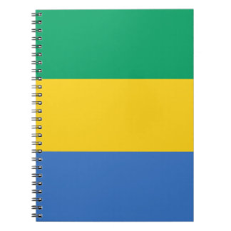 Low Cost! Gabon Flag Spiral Notebook