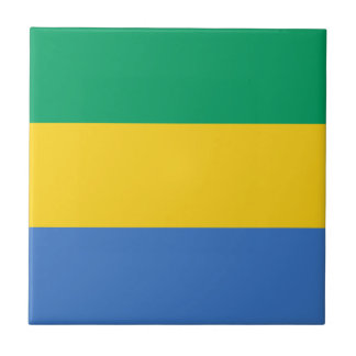 Low Cost! Gabon Flag Tile