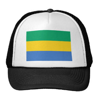 Low Cost! Gabon Flag Trucker Hat