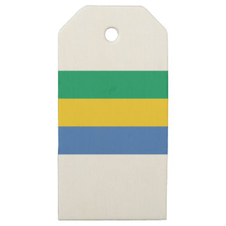 Low Cost! Gabon Flag Wooden Gift Tags