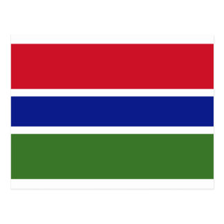 Low Cost! Gambia Flag Postcard