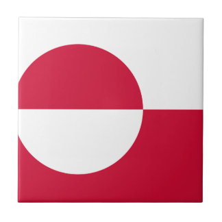 Low Cost! Greenland Flag Ceramic Tile