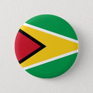 Low Cost! Guyana Flag Pinback Button