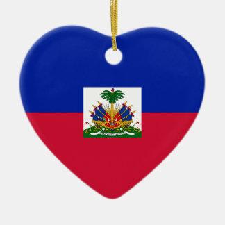 Low Cost! Haiti Flag Ceramic Ornament