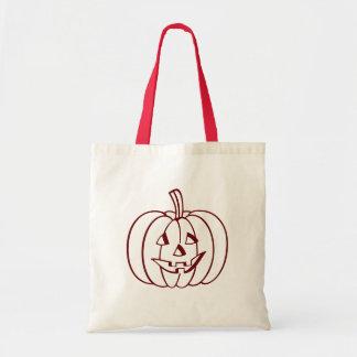 Low Cost Halloween Pumpkin Canvas Tote Bag