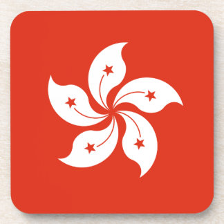 Low Cost! Hong Kong Flag Beverage Coaster