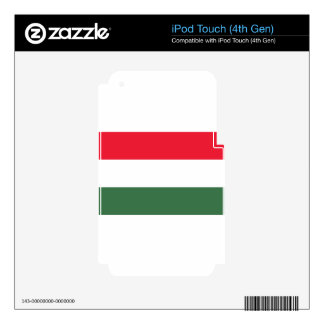 Low Cost! Hungary Flag iPod Touch 4G Skins