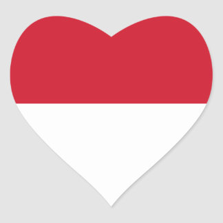 Low Cost! Indonesia Flag Heart Sticker