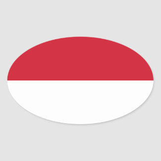 Low Cost! Indonesia Flag Oval Sticker