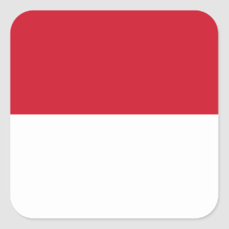 Low Cost! Indonesia Flag Square Sticker