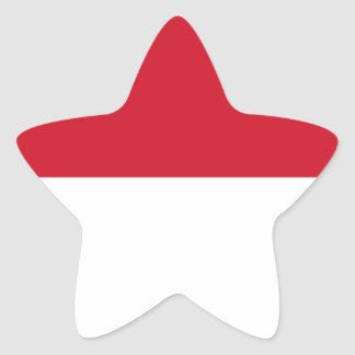 Low Cost! Indonesia Flag Star Sticker