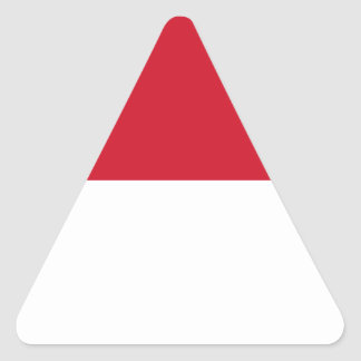 Low Cost! Indonesia Flag Triangle Sticker