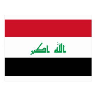Low Cost! Iraq Flag Postcard
