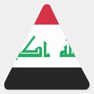 Low Cost! Iraq Flag Triangle Sticker