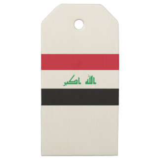 Low Cost! Iraq Flag Wooden Gift Tags