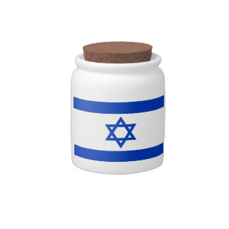Low Cost! Israel Flag Candy Jar