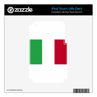 Low Cost! Italy Flag iPod Touch 4G Decals
