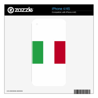 Low Cost! Italy Flag Skins For iPhone 4