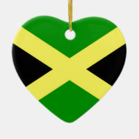 Low Cost! Jamaica Flag Ceramic Ornament