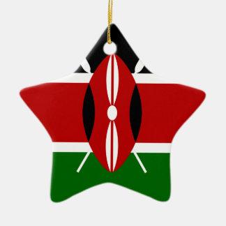 Low Cost! Kenya Flag Ceramic Ornament