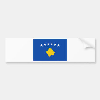 Low Cost! Kosovo Flag Bumper Sticker