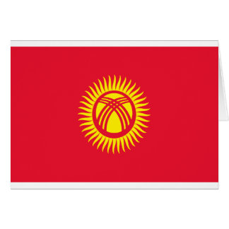 Low Cost! Kyrgyzstan Flag Card