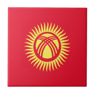 Low Cost! Kyrgyzstan Flag Tile