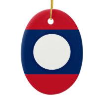 Low Cost! Laos Flag Ceramic Ornament