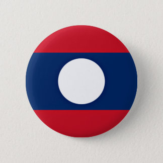 Low Cost! Laos Flag Pinback Button