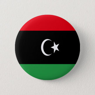 Low Cost! Libya Flag Pinback Button
