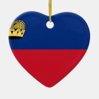 Low Cost! Liechtenstein Flag Ceramic Ornament