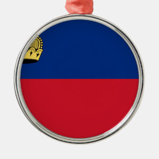 Low Cost! Liechtenstein Flag Metal Ornament
