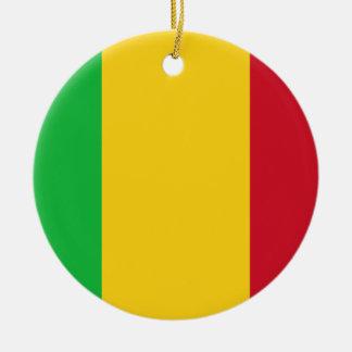 Low Cost! Mali Flag Ceramic Ornament