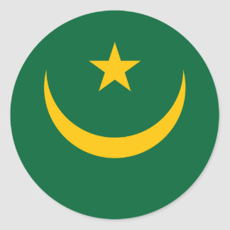 Low Cost! Mauritania Flag Classic Round Sticker