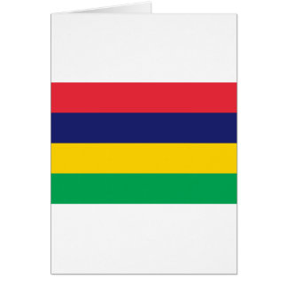 Low Cost! Mauritius Flag Card