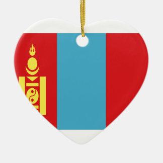 Low Cost! Mongolia Flag Ceramic Ornament