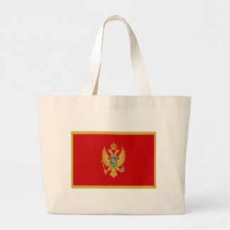 Low Cost! Montenegro Flag Large Tote Bag