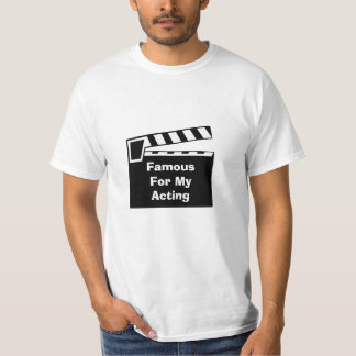 Low Cost Movie Slate Clapperboard Value Tee