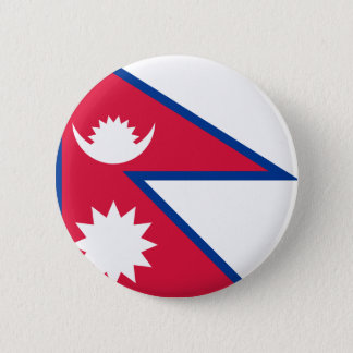 Low Cost! Nepal Flag Pinback Button