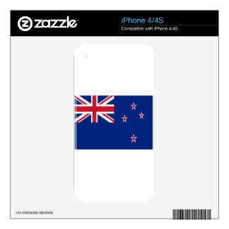 Low Cost! New Zealand Flag Skin For The iPhone 4S