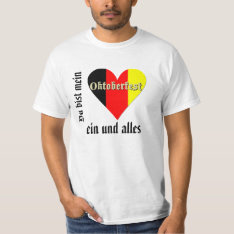 Low Cost Oktoberfest Festival On Flag Heart Value T-shirt at Zazzle