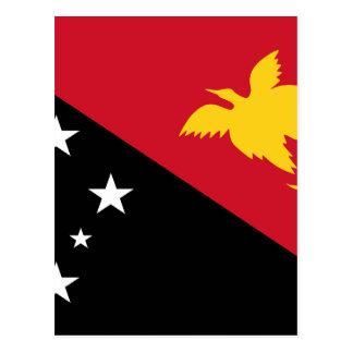 Low Cost! Papua New Guinea Flag Postcard