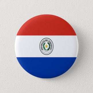 Low Cost! Paraguay Flag Pinback Button