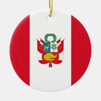Low Cost! Peru Flag Ceramic Ornament
