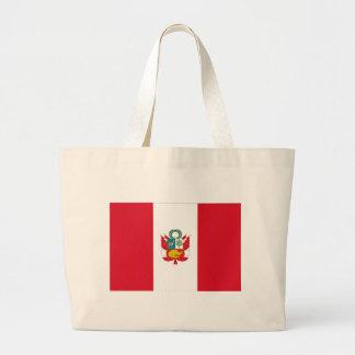 Low Cost! Peru Flag Large Tote Bag