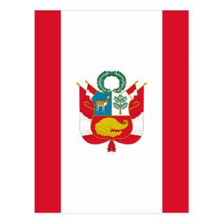Low Cost! Peru Flag Postcard