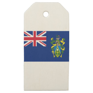 Low Cost! Pitcairn Islands Flag Wooden Gift Tags