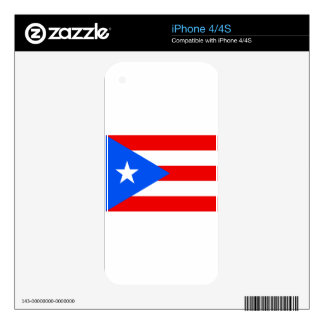 Low Cost! Puerto Rico Flag Skin For iPhone 4