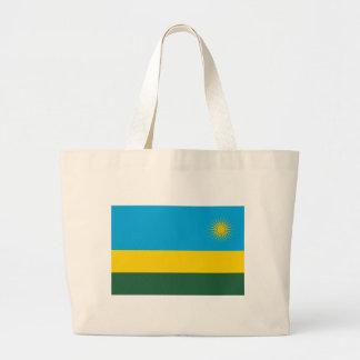 Low Cost! Rwanda Flag Large Tote Bag