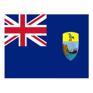 Low Cost! Saint Helena, Ascension Tristan Flag Postcard